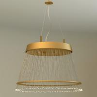 fiber pendant chandelier 3d model