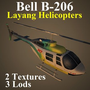 3d model bell helicopters lay