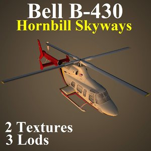3d model bell hbs helicopter