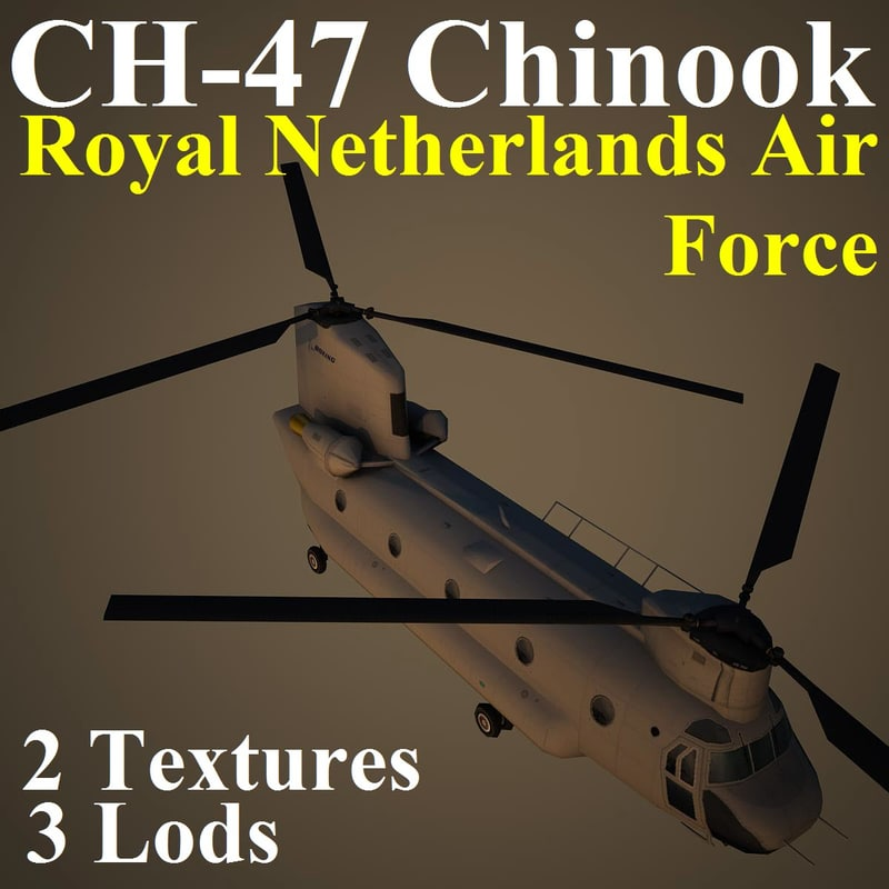 3d model ch-47 chinook rnl helicopter