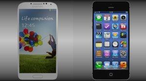 3d model iphone 5 samsung galaxy