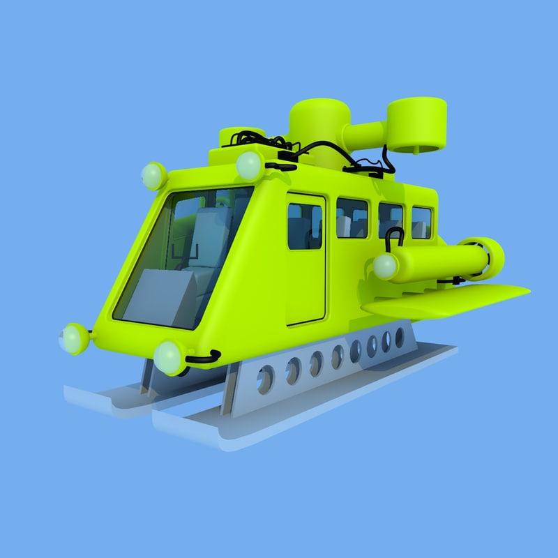 vessel submersible c4d