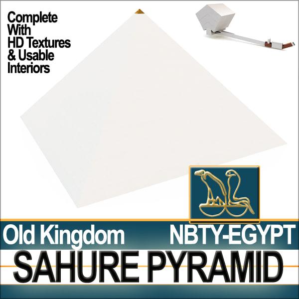 ancient egypt pyramid sahure 3d model