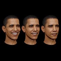 maya morphing smiling face portraits