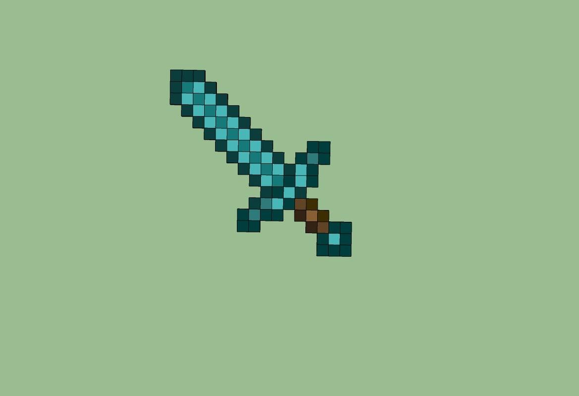 3ds max minecraft sword