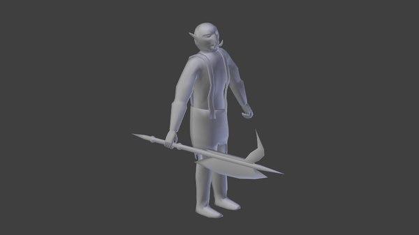 free orc 3d model