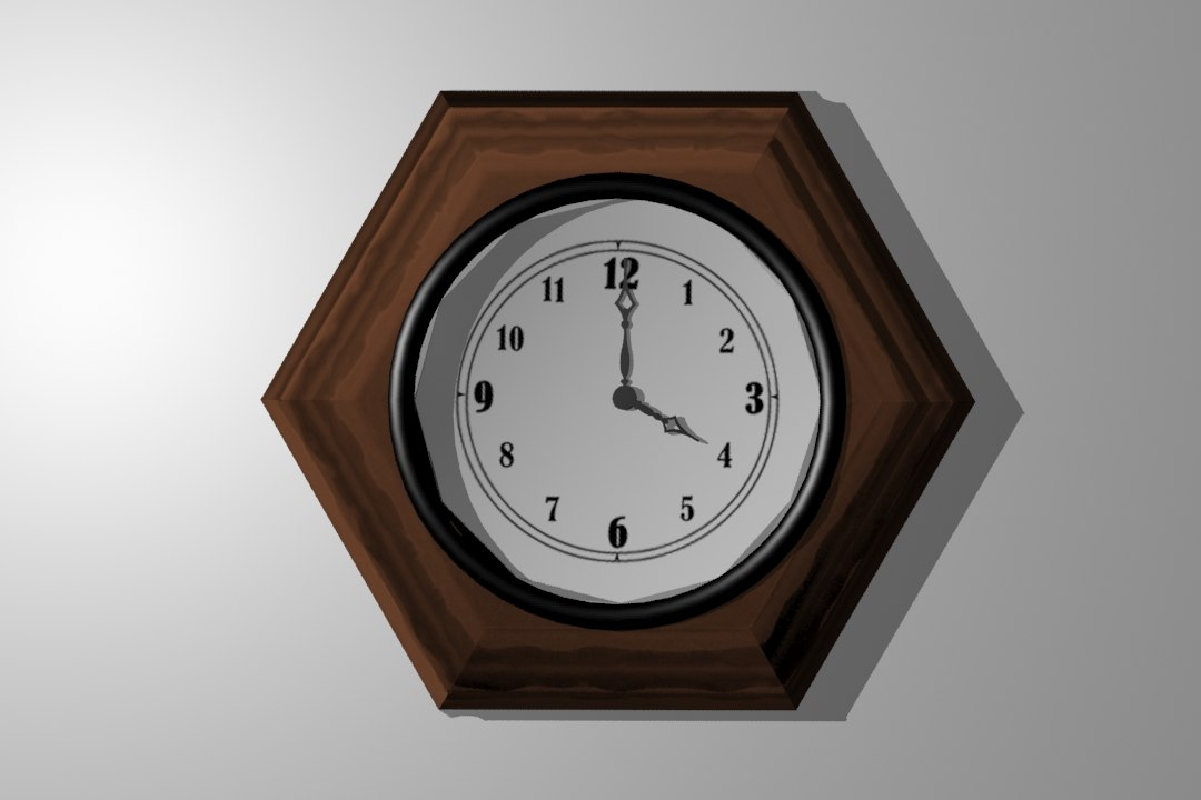3d fancy clock