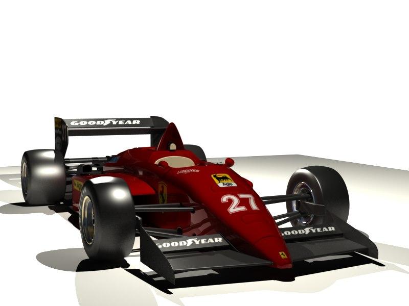 race car formula1 3d model