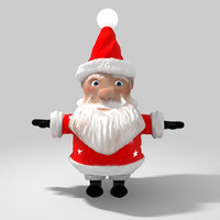 free cartoon character santa claus 3d model