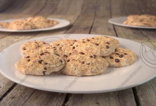 cookies plate 3d model