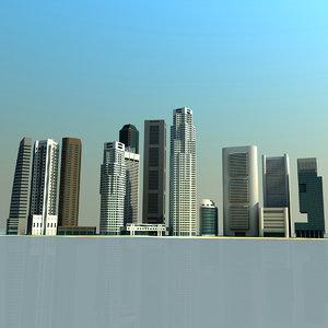 3d singapore cityscape