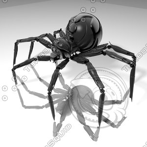 3d model spider h-light