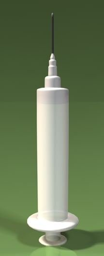 syringe needle medicine 3d 3ds