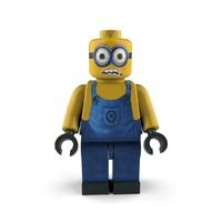 3d character lego model