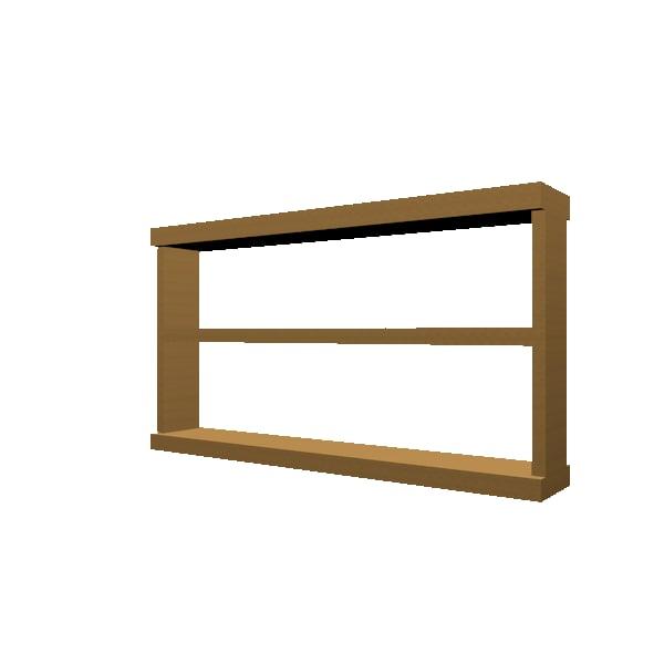 3d wooden unit model