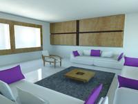 3ds max home white purple