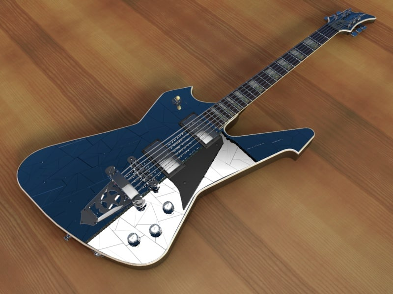 washburn ps1800 cracked guitar 3ds