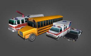 3d model cars departement city