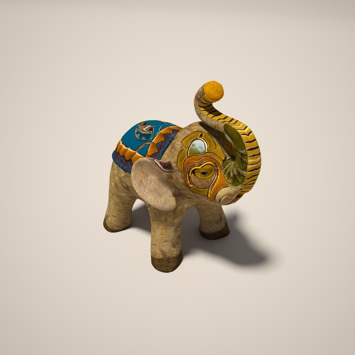 ceramic elephant 3d max