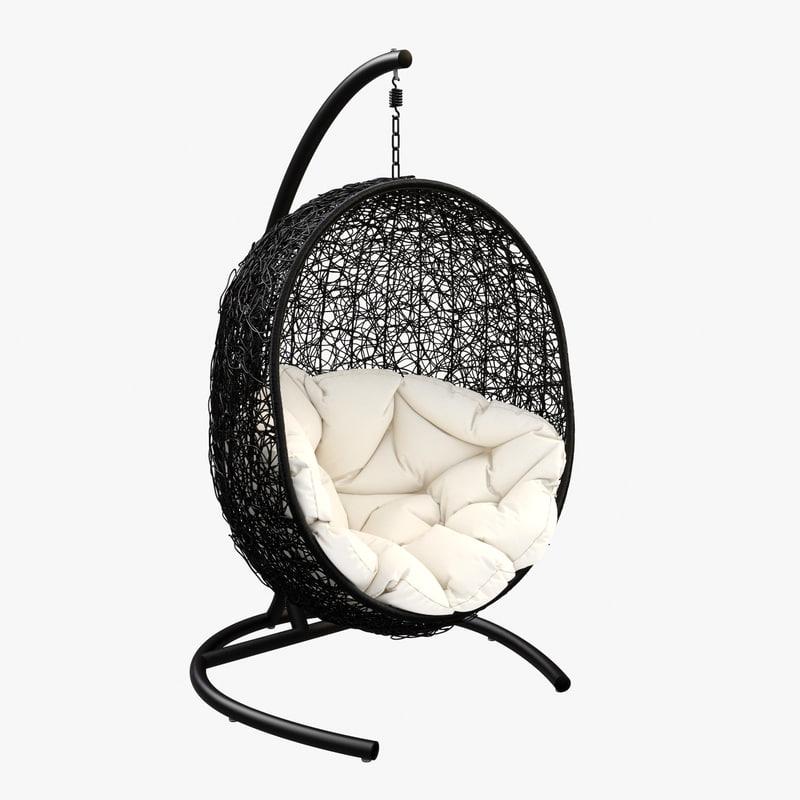 swing chair 3d obj