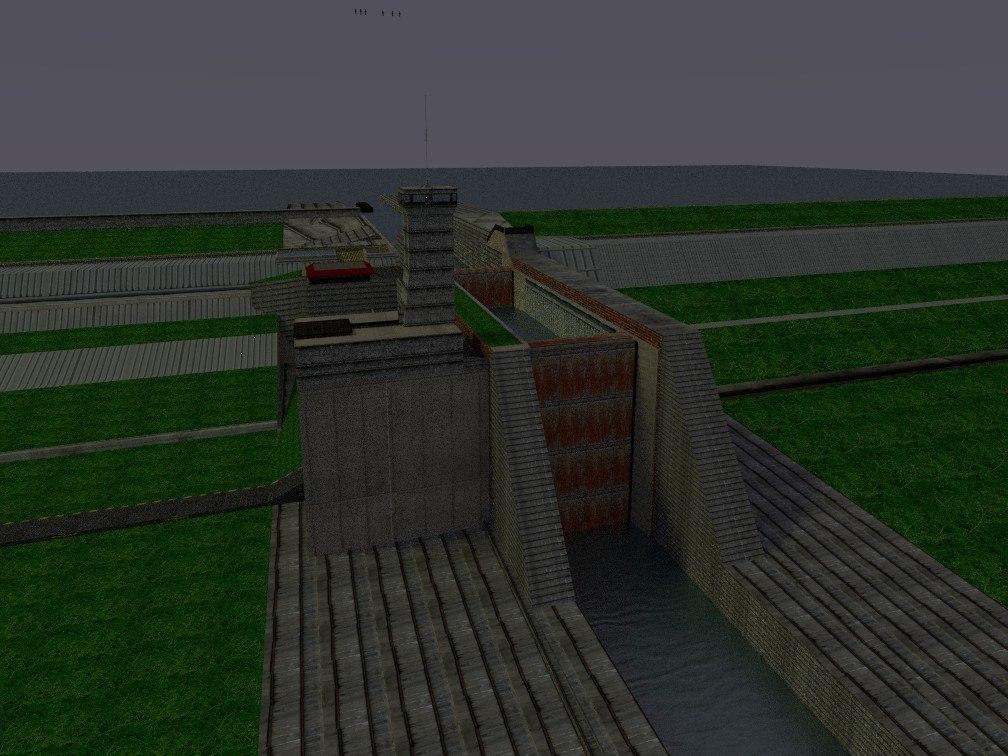 3d canal lock model