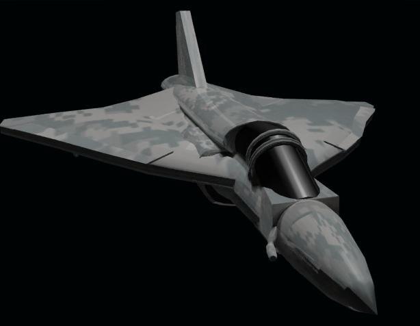 camo military jet 3d model