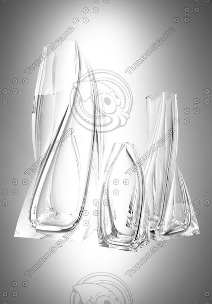 3d 3-party vase model
