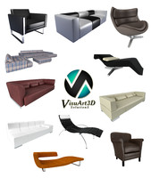 3d modern sofas couches