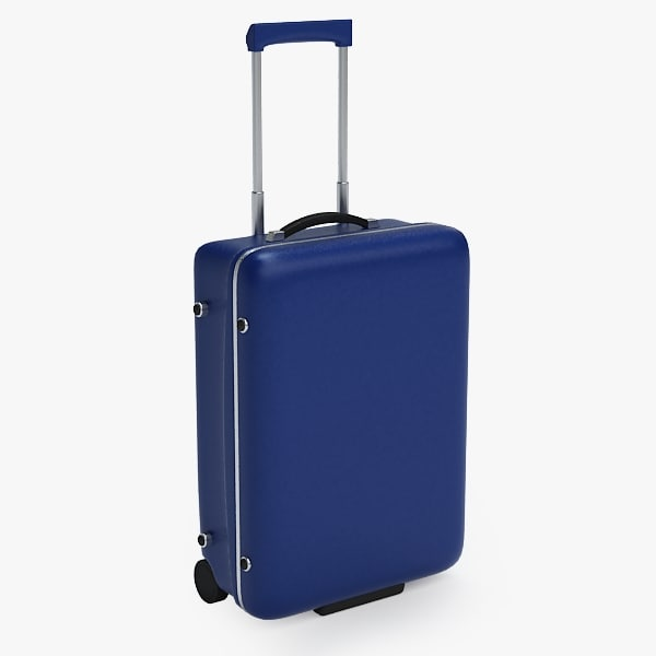 3d suitcase luggage case model
