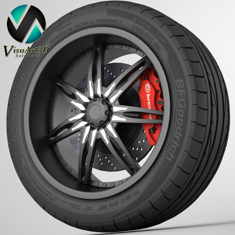 3ds max wheel black ice