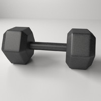3d model hexagon dumbbell
