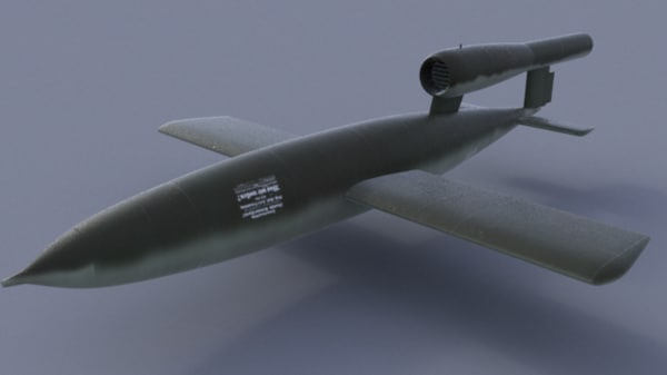 3d model wwii german v1 flying