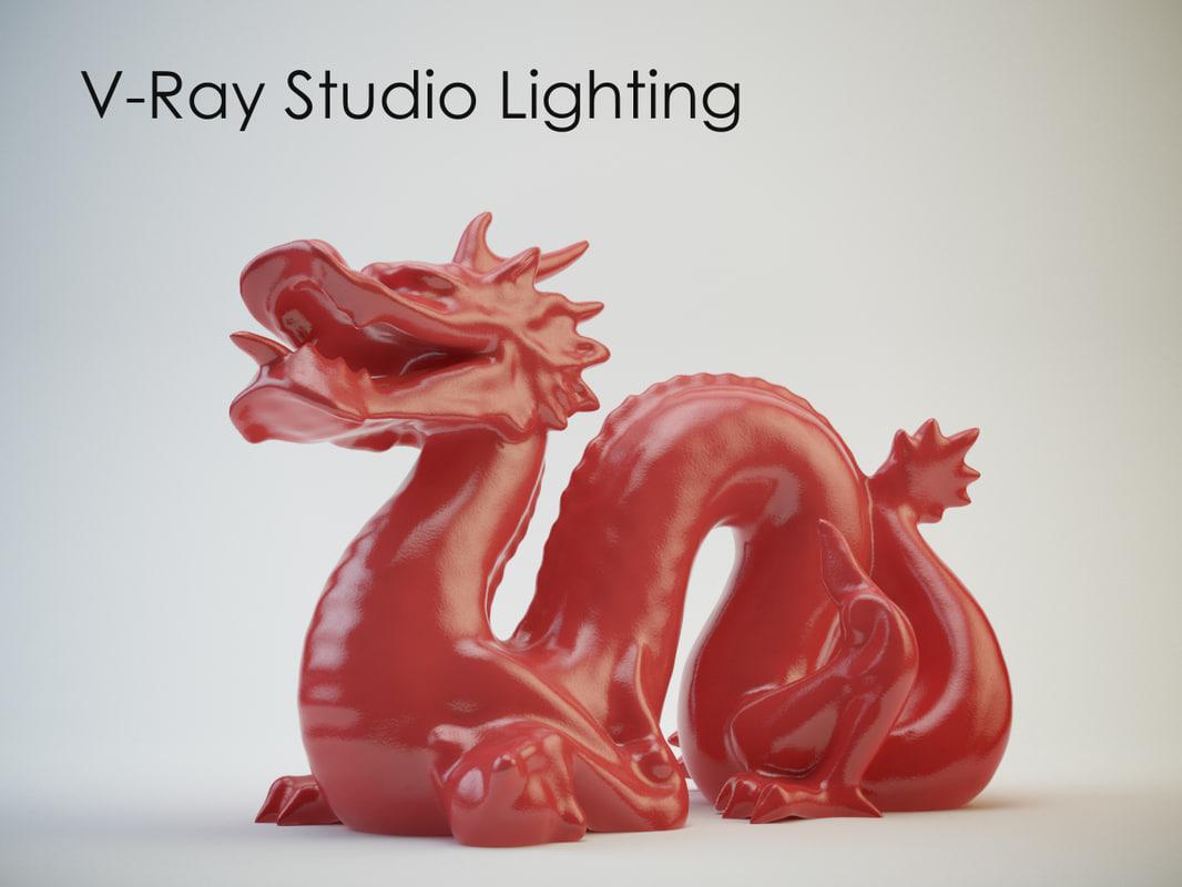 3d max production studio lighting setups