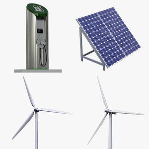 4-pc green power set 3d ma