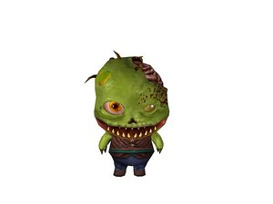 3d zombie toon model