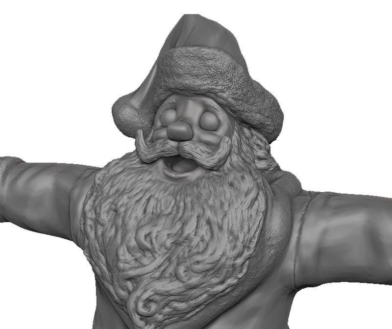 free santa claus 3d model