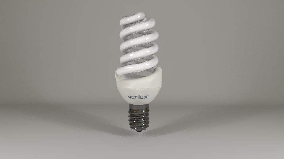 3d model cfl light