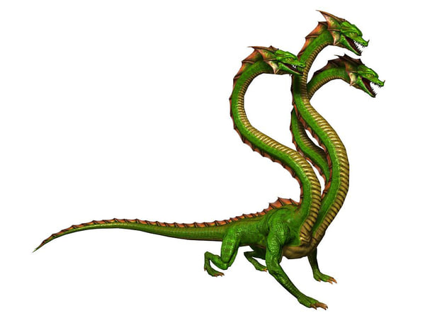 hydras lizardous unity 3d model