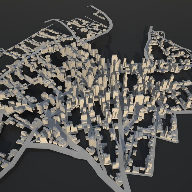obj skyscraper city scene