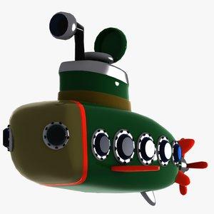 car submarine 3d model