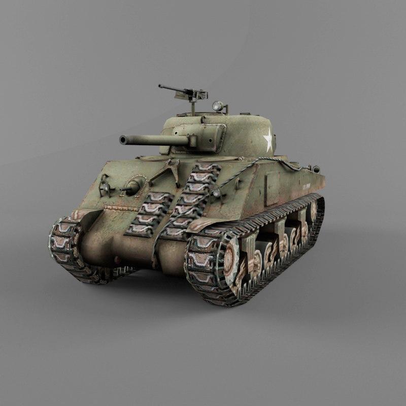 m4 wwii 3d model
