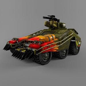 3d armor car games model