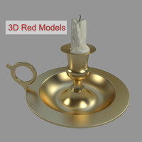 old candlestick 3d model