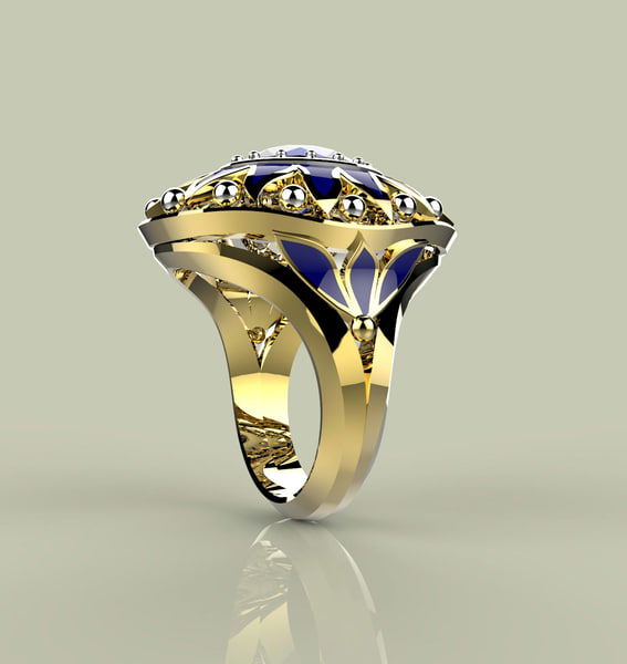 3ds stone gold ring s