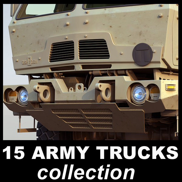 military trucks 3d obj