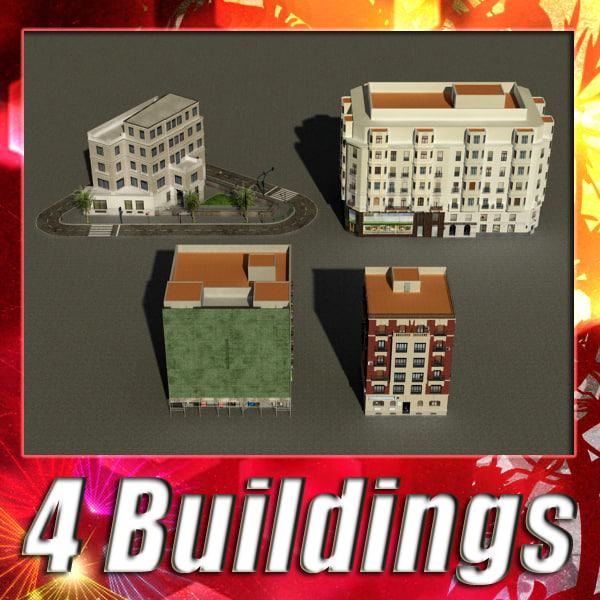 building 25-28 collections 3d model
