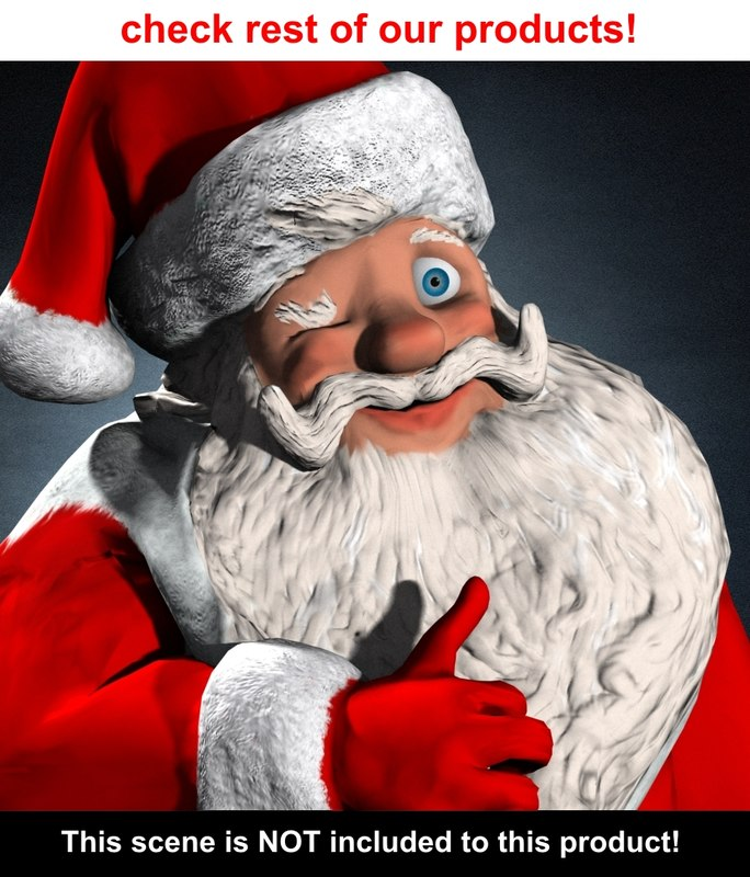 free santa claus 3d model - Free Santa Claus Pictures