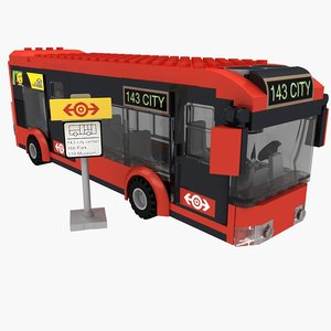 bus set lego 60026 3d model