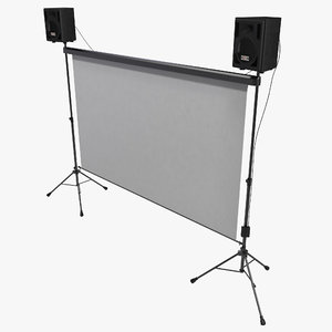backyard theater outdoor movie projects 3d model