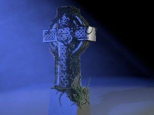 3d celtic cross ivy model